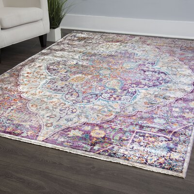Artisan Machine Woven Rouge Area Rug Rug Size: Rectangle 53 x 79