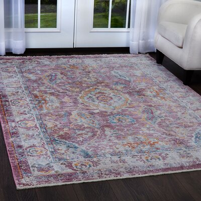 Artisan Rouge Pink/Ivory Area Rug Rug Size: Rectangle 53 x 79