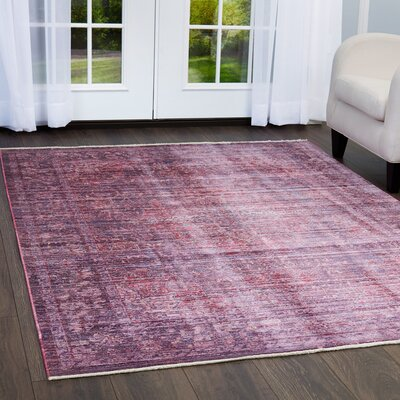 Artisan Mauve Area Rug Rug Size: Rectangle 710 x 102