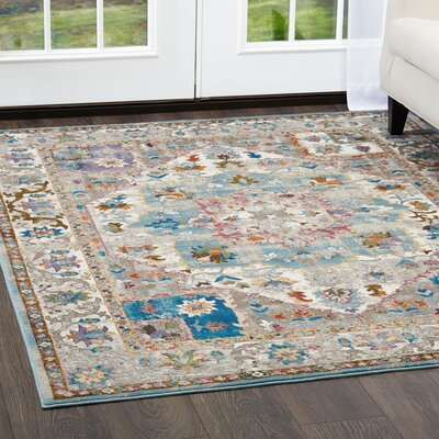 Parlin Bordered  Area Rug Rug Size: Rectangle 79 x 95