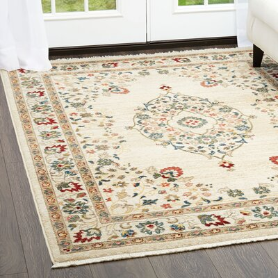 Ridgefield Cream Area Rug Rug Size: Rectangle 26 x 311