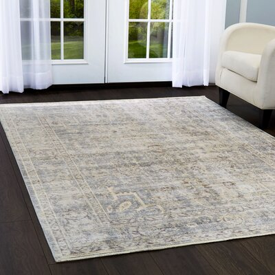 Artisan Gray Area Rug Rug Size: Rectangle 53 x 79