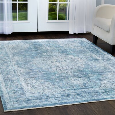Artisan Blue Area Rug Rug Size: Rectangle 53 x 79