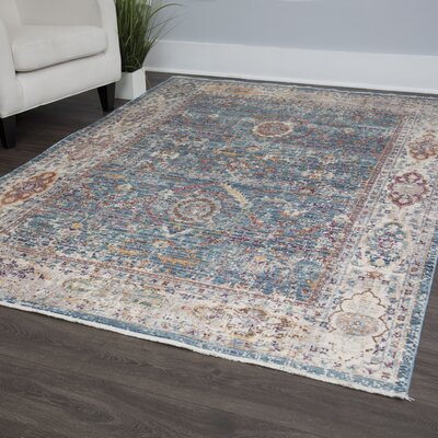 Artisan Blue/Gray Area Rug Rug Size: Rectangle 53 x 79