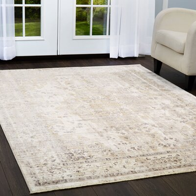 Artisan Beige Area Rug Rug Size: Rectangle 53 x 79