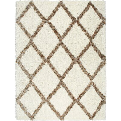 Amsterdam Ivory/Beige Area Rug Rug Size: Rectangle 79 x 102