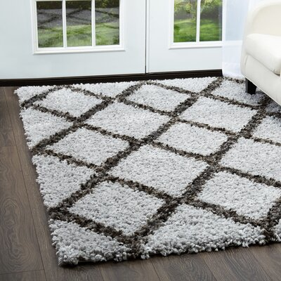 Amsterdam Gray Area Rug Rug Size: Rectangle 79 x 102