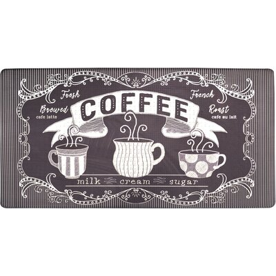 Cook N Comfort Fresh Brewed Coffee Kitchen Mat