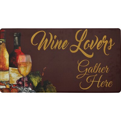 Cook N Comfort Wine Lovers Kitchen Mat