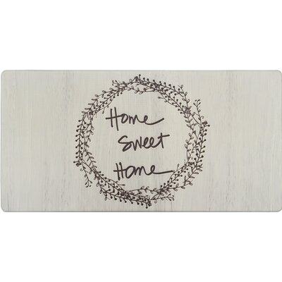 Cook N Comfort Home Sweet Home Wreath Kitchen Mat