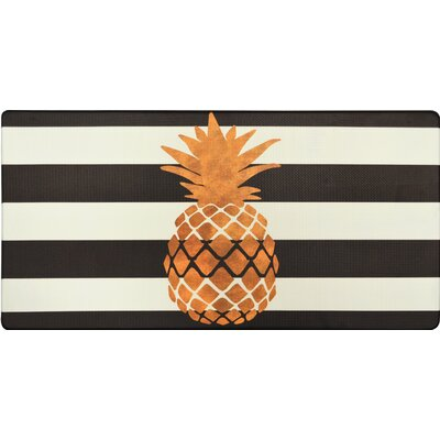 Cook N Comfort Gold Pineapple Kitchen Mat