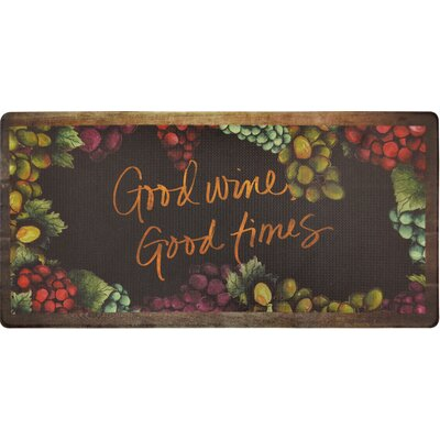 Cook N Comfort Good Wine Good Times Kitchen Mat