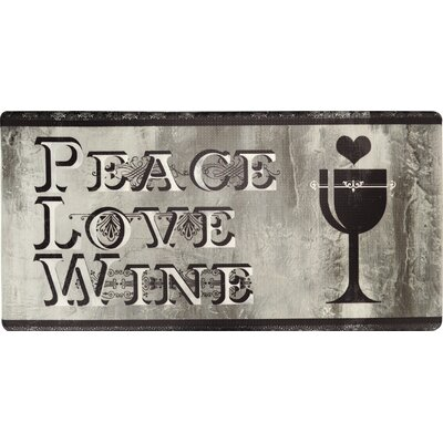 Cook N Comfort Peace Love Wine Kitchen Mat