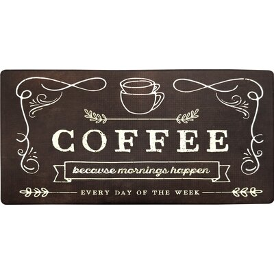 Cook N Comfort Coffee Because Kitchen Mat