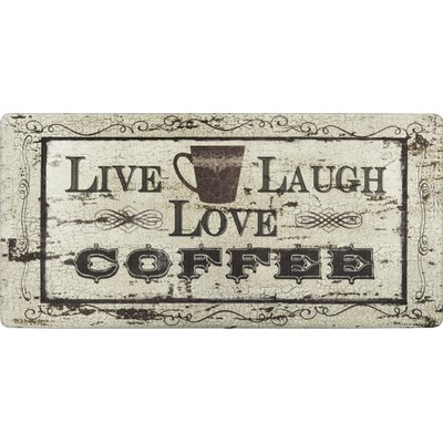 Cook N Comfort Live Laugh Coffee Kitchen Mat