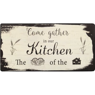 Cook N Comfort Begin Each Day Kitchen Mat