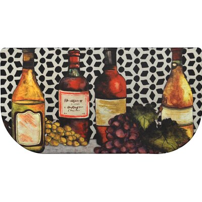 Cook N Comfort Trellis Wine Slice Kitchen Mat