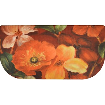 Cook N Comfort Floral Slice Kitchen Mat