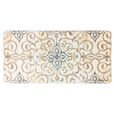 Cook N Comfort Rustic Medallion Kitchen Mat Color: Cream