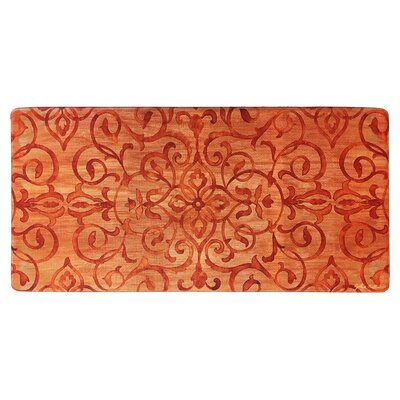 Cook N Comfort Rustic Medallion Kitchen Mat Color: Rust