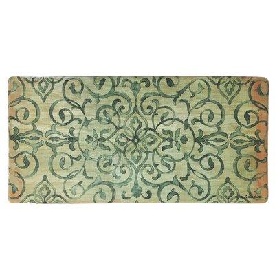 Cook N Comfort Rustic Medallion Kitchen Mat Color: Green