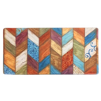 Cook N Comfort Rustic Chevron Kitchen Mat