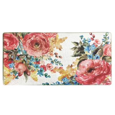 Cook N Comfort Romantic Floral Bouque Kitchen Mat