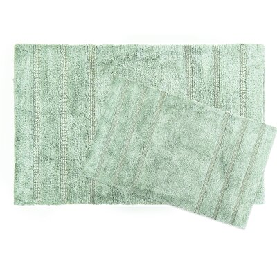 Newton Microfiber 2 Piece Bath Rug Set Color: Jade