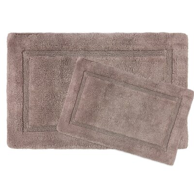 Newton Microfiber 2 Piece Bath Rug Set Color: Fawn