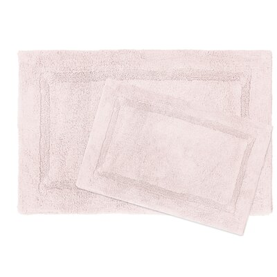 Newton Microfiber 2 Piece Bath Rug Set Color: Blush