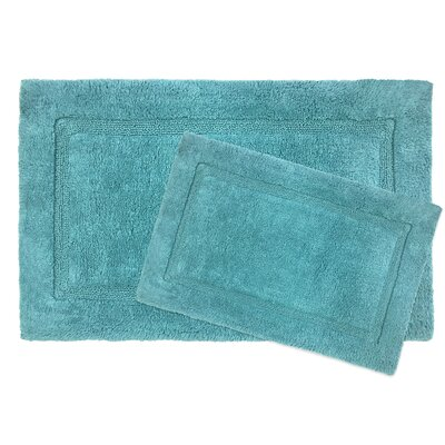 Newton Microfiber 2 Piece Bath Rug Set Color: Dark Teal