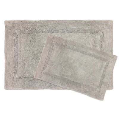 Newton Microfiber 2 Piece Bath Rug Set Color: Gray