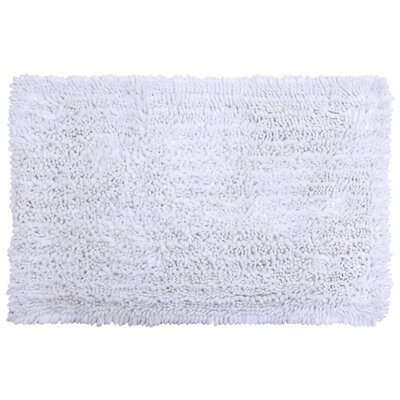 Radiance Chenille Noodle Bath Rug Color: White