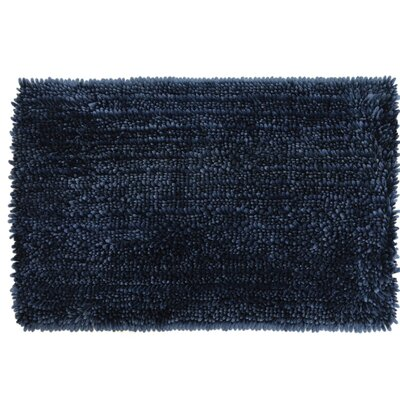 Radiance Chenille Noodle Bath Rug Color: Navy Blue