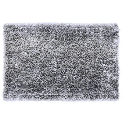 Radiance Chenille Noodle Bath Rug Color: Silver