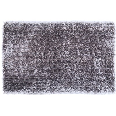 Radiance Chenille Noodle Bath Rug Color: Gray