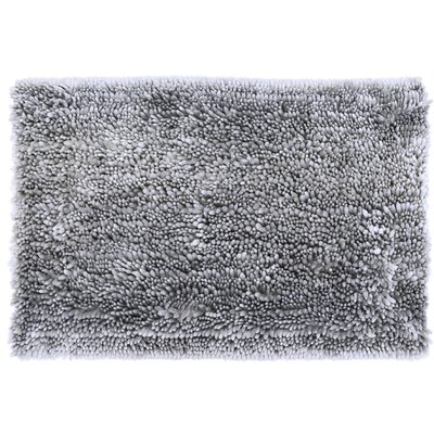 Radiance Chenille Noodle 2 Piece Bath Rug Set Color: Silver