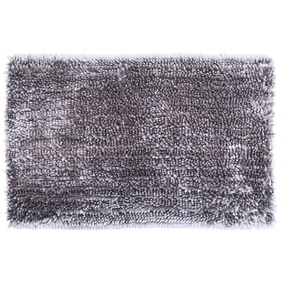 Radiance Chenille Noodle 2 Piece Bath Rug Set Color: Gray