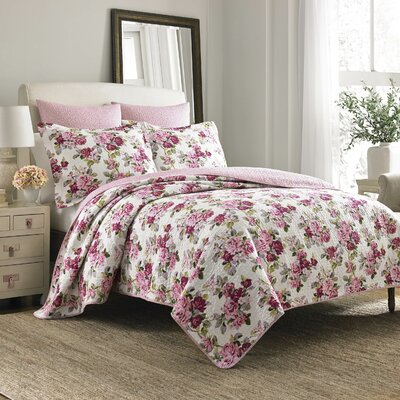 Laura Ashley Lidia Reversible Quilt Set by Laura Ashley Home Size: Full/Queen