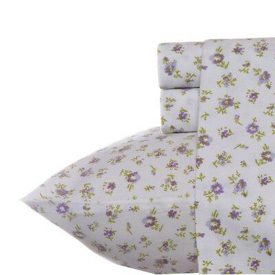 Petite Fleur 300 Thread Count 100% Cotton Sheet Set Size: King