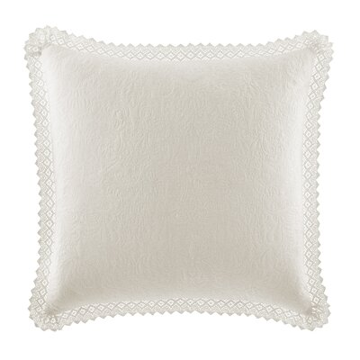 Crochet 100% Cotton Pillow Cover by Laura Ashley Home Color: Ivory