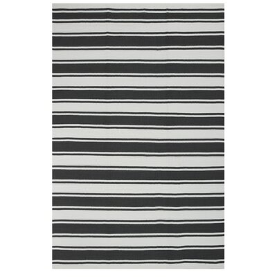 Zen Grey/White Indoor/Outdoor Area Rug Rug Size: 5 x 8