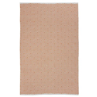 Criswell Orange Area Rug Rug Size: 4 x 6