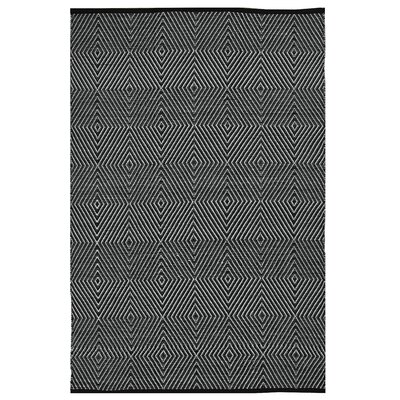 Zen Hand Woven Black/White Indoor/Outdoorarea Rug Rug Size: Rectangle 4 x 6