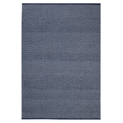 Criswell Hand-Woven Cotton Dark Blue Area Rug Rug Size: Rectangle 5 x 8