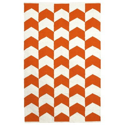 Metro Metropolitan Orange Peel/Bright White Rug