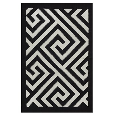Metro Broadway Black/White Rug Rug Size: 4 x 6