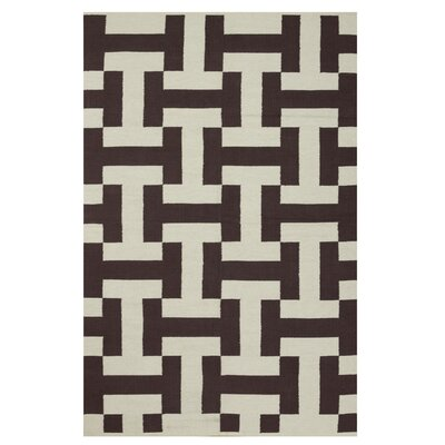 Metro Canal Coffee/Beige Rug Rug Size: 8 x 10