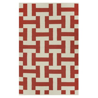 Metro Canal Paprika/Beige Rug Rug Size: 3 x 5