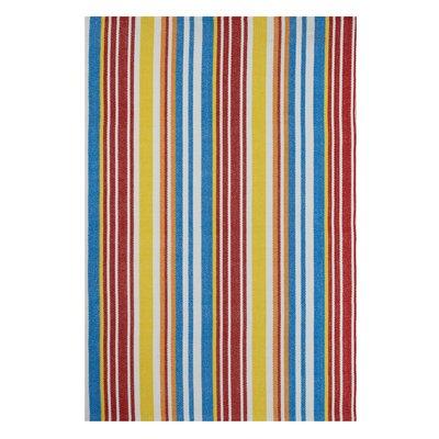 Zen Rio Blue/Yellow Area Rug Rug Size: 5 x 8